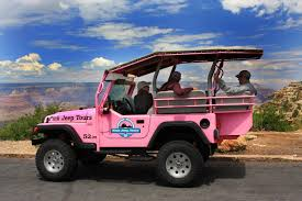 jeep lifted pink grand canyon south rim tour with pink jeep upgrade and imax tickets