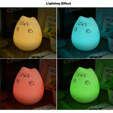 usb cat night light popular led usb rechargeable cute cat night light colorful silicone