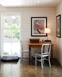 austin stained concrete floor hall modern with closet designers