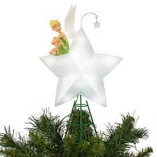 tinkerbell tree toppers disney charm glowing