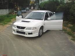 mitsubishi lancer evo modified my lancer modified evo look team bhp