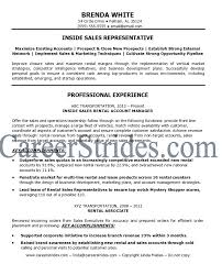 Inside Sales Sample Resume by Inside Sales Resume Objective Retail Manager Combination Resume