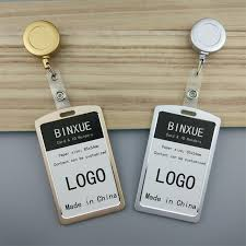How To Make Employee Id Cards - binxue nonferrous metal employee id card cover card id holder work