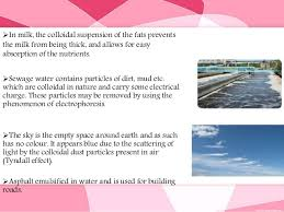 the scattering of light by colloids is called colloids presentation slides