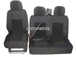 siege jeu premium tissu housses de siège jeu 2 1 pour ford transit
