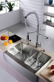 Double Sinks Kitchen by Stainless Steel Kitchen Sink Combination Kraususa Com