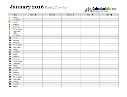 printable january 2016 weekly planner printable monthly planner 2016 world of printable and chart