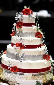 wedding cakes pictures red and silver wedding cakes