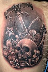 biagio s gallery tattoos nautical anchor with skull