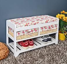 Schlafzimmer Kommode Landhausstil Amazon De Landhaus Flur Diele Sitzbank Flurbank Kommode Mit