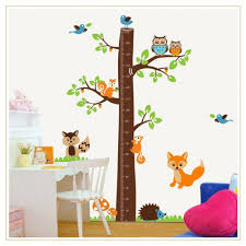 Animal Wall Decals For Nursery by Tree Growth Chart Wall Decal Wall Art Decals Vinyl Wall