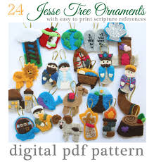 24 tree advent ornaments pattern 24 ornaments with