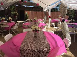 pink and leopard print baby shower by mike u0027s party decorations