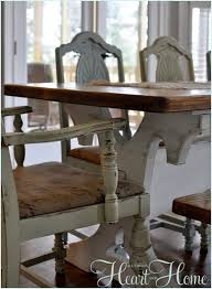 Burlap Dining Chairs Recovering Farm Table Chairs All Things Heart And Home