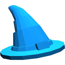 lego blue wizard hat older style with smooth surface 6131