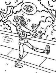scary zombie coloring pages bing images halloween color