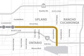 Gold Line Map Gold Line Authority Studying Extension To Ontario Airport Curbed La