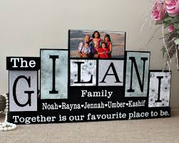 Personalized Home Decor Signs Custom Family Name Blocks Gifts For Home Family Name Decor With