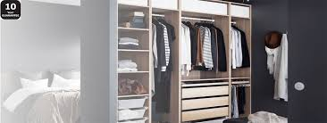 Ikea Fitted Wardrobe Interiors Pax System Combinations With Doors Ikea