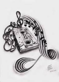 cassette and music note tattoo designs real photo pictures