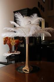 ostrich feather centerpieces ostrich feather centerpiece 16 gold eiffel tower with gold bling