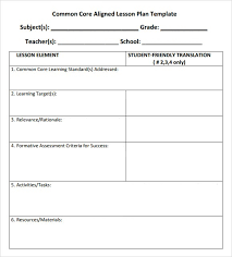 grade 1 lesson plan template