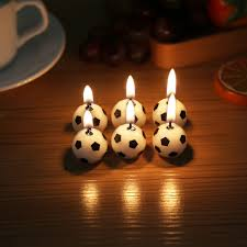 aliexpress com buy 6pcs cute soccer ball football cake candles