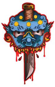 japanese mask tattoo design by funkt green on deviantart