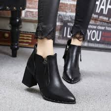 s zipper ankle boots solid side zipper pointed toe ankle boots novashe com