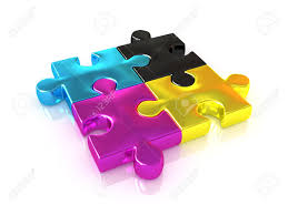 cymk puzzle cmyk puzzle 3d stock photo picture and royalty free image image