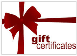 online gift certificates 50 gift certificate