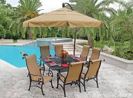 Patio Dining Set With Umbrella Outdoor Patio Table Set With Umbrella Furniture