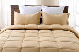 Solid Beige Comforter 3pc Reversible Solid Emboss Striped Comforter Set Oversized And