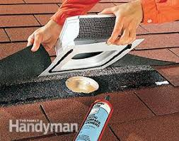 bathroom exhaust fan roof vent cap venting exhaust fans through the roof family handyman