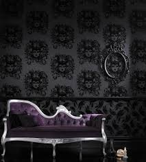 rock and roll skulastic stars black dig 20010 designer wallpaper