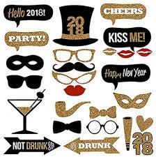 photo booth props diy veewon 2018 new years party photo booth props 26pcs diy kit