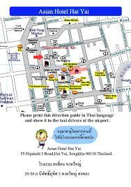 map of hat yai asian hotel hat yai map thailand hotels