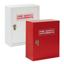 fire alarm document cabinet metal storage cabinet with hasp lock for fire safety documents