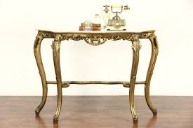 Italian Console Table Sold Italian Carved 1930 S Antique Burnished Gold Console