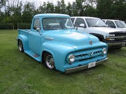 truck ford blue 1950sfordtruckstepside oldies truck style pinterest cars