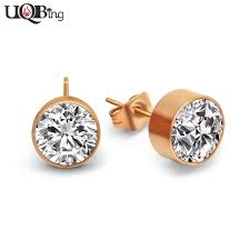 hypoallergenic earrings titanium steel hypoallergenic earrings fashion gold color