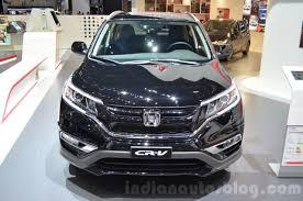 honda crv 2016 honda cr v black edition front at gims 2016 indian autos blog