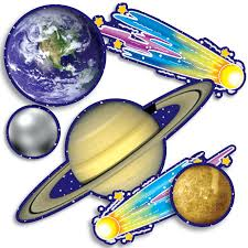 Outer Space Decorations Accent Punch Outs Solar System 93 Pieces Mini Bulletin Board Set