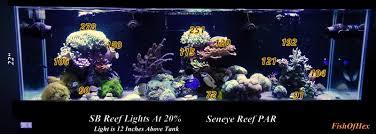 sb reef lights review sb reef light par reading using seneye reef 125 gallon aquarium