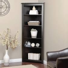 Black Corner Bookcase Corner Bookshelf 234 99 Nley Home Redford Corner Bookcase