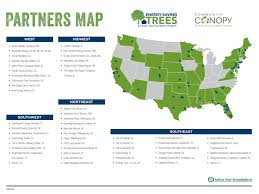 Chicago Il On Map by Energy Saving Trees At Arborday Org