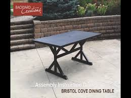 Backyard Collections Patio Furniture by Backyard Creations Bristol Cove Rectangular Dining Patio Table At