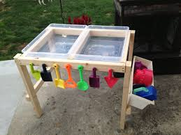 Play Table With Storage And Chairs Water And Sand Table Made By Nana With Love Dagpleje Ideer