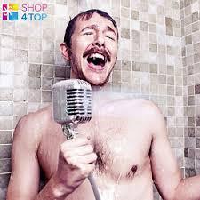 Funny Bathroom Gifts Microphone Shower Head Retro Shaped Bath Bathroom Original Funny