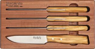 hickory kitchen knives lionsteel 4 steak knife set in wooden gift box olive wood